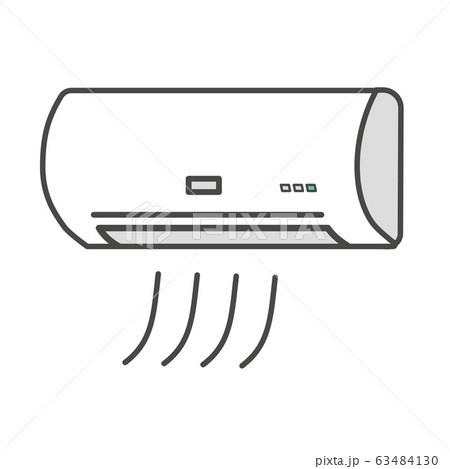シンプルなエアコンのイラスト 63484130