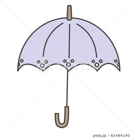 薄紫色の日傘のイラスト 63484140