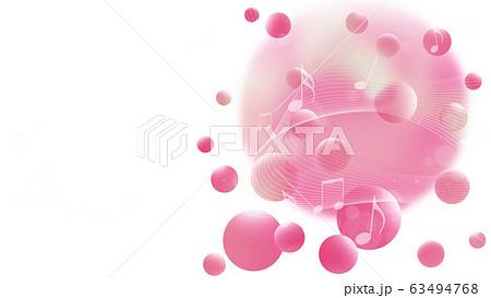 音楽のイメージ、抽象的な球体の背景 63494768