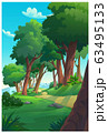 Vector illustration of a tree and graphic of 63495133