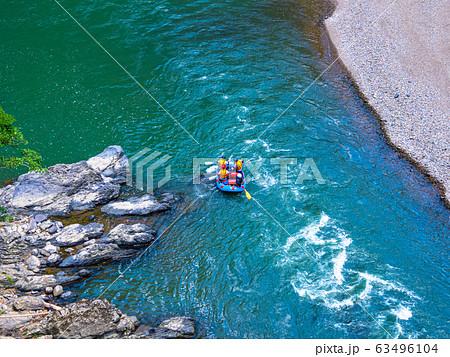 保津峡とラフティング 63496104