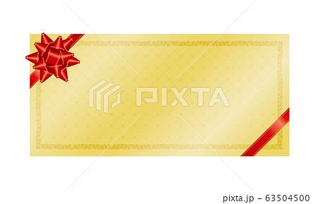 金色のギフトカードフレームのベクターイラスト 63504500