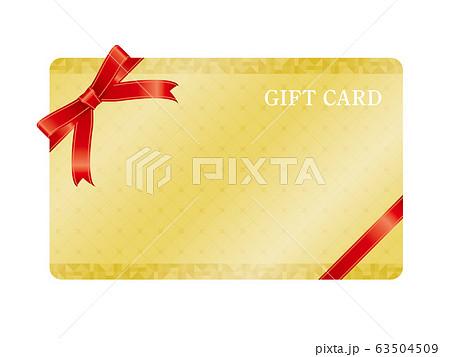 金色のギフトカードフレームのベクターイラスト 63504509