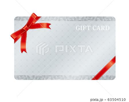 銀色のギフトカードフレームのベクターイラスト 63504510