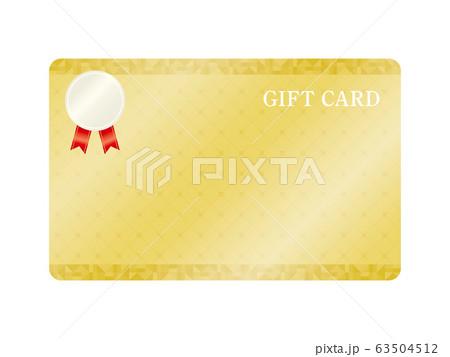 金色のギフトカードフレームのベクターイラスト 63504512