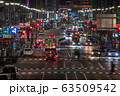 《東京都》行き交う乗用車・交通イメージ 63509542