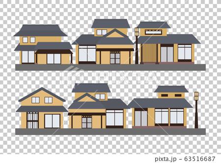 日本傳統街道日本房屋 63516687
