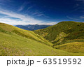 巻機山稜線から見る牛ヶ岳と越後三山 63519592