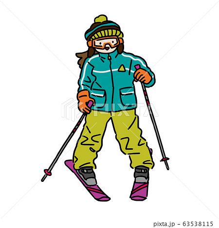 スキー・子供(女の子) 63538115