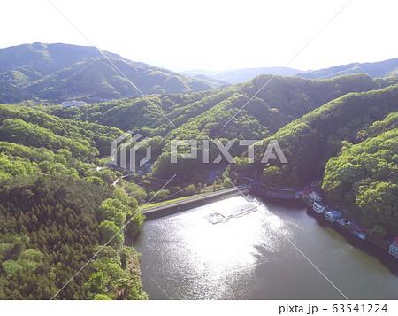 円良田湖(つぶらたこ)〜ドローンで空撮(埼玉県寄居町・美里町) 63541224