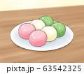 3色だんご・線1色・背景あり 63542325