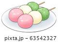 3色だんご・線1色・お皿あり 63542327