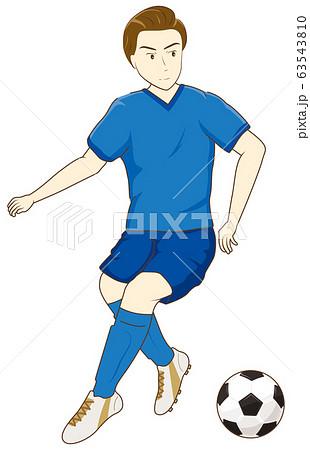 サッカーをする男性06 63543810