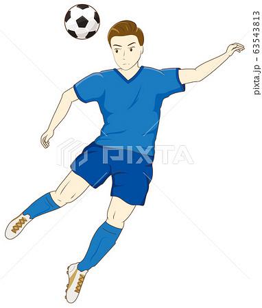 サッカーをする男性08 63543813