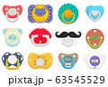 Illustration on theme big colored set baby 63545529