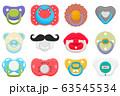 Illustration on theme big colored set baby 63545534