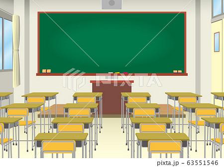学校の教室イメージ 63551546