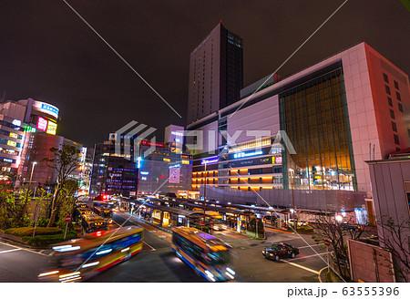日本の横浜都市景観 横浜駅などを望む=2020年3月7日 63555396