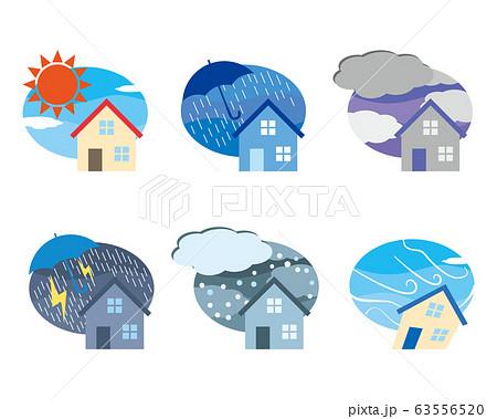 天気 一戸建て お天気 家 気象 63556520