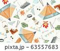 アウトドア キャンプ 背景 テキスタイル 水彩 イラスト 63557683