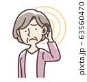 補聴器 難聴など おばあさん 63560470