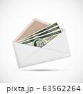 Money currency dollar banknote in envelope. Bribe 63562264