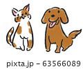 犬 猫 イラスト 63566089