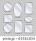 Miorror decorative reflections on transparent 63581834