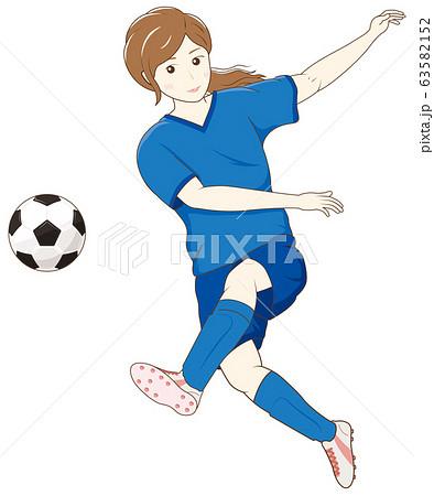 サッカーをする女性02 63582152
