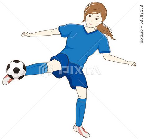 サッカーをする女性04 63582153