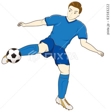 サッカーをする男性04 63583222