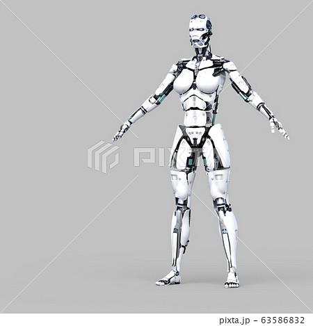 AIロボット アンドロイド perming3DCG イラスト素材 63586832