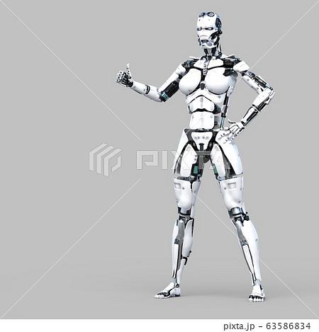 AIロボット アンドロイド perming3DCG イラスト素材 63586834