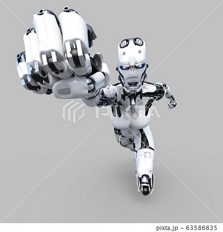 AIロボット アンドロイド perming3DCG イラスト素材 63586835