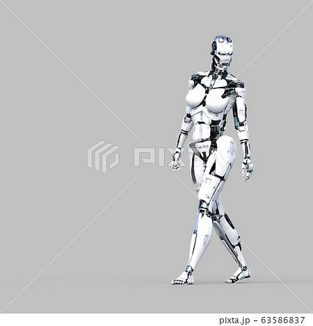 AIロボット アンドロイド perming3DCG イラスト素材 63586837
