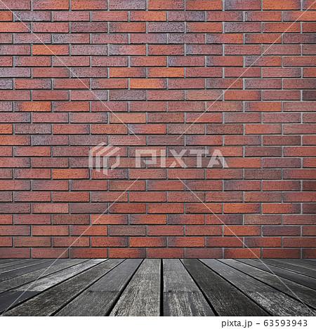 背景-壁-床-煉瓦-茶色 63593943