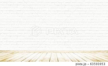 背景-壁-床-煉瓦-白 63593953