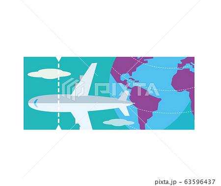 旅行 飛行機 チケット 海外旅行 空港 63596437