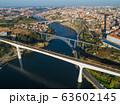 Aerial of bridges and Douro river in Porto 63602145