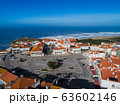 Aerial view of Nazare town in Portugal 63602146
