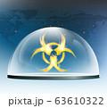 Warning biohazard burning symbol 63610322