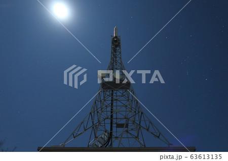 坊ケ峯展望台、月下の電波塔とオリオン座 63613135