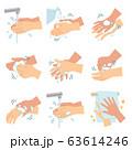 感染症予防のための正しい手洗いの方法 枠なし 63614246