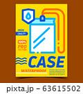 Waterproof Case Creative Advertising Banner Vector 63615502