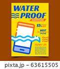 Waterproof Smartphone Advertising Poster Vector 63615505