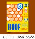 Waterproof Roof Creative Advertising Banner Vector 63615528