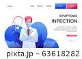 Quarantine landing page template, online 63618282