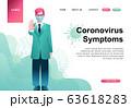 Quarantine landing page template, online 63618283