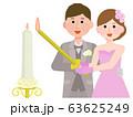 結婚式 披露宴 キャンドルサービス イラスト 63625249