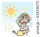 水やり中 熱中症 日射病 おばあさん 半袖 63628075